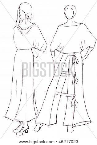 Dress Design By Peasant Motifs