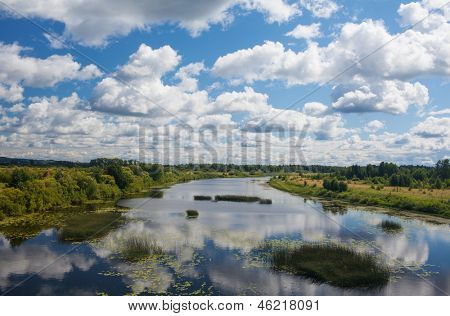 river Kama, in  Ural steppe