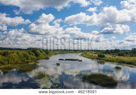 river Kama, in  Ural steppe
