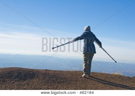 Hiking On Crutches