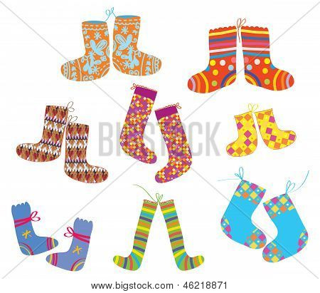 Socks set for christmas children style