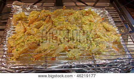 Butterflied Shrimp, Breaded With Garlic
