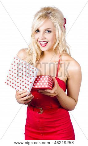 Woman With Romantic Presents