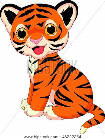 Süße Tiger cartoon