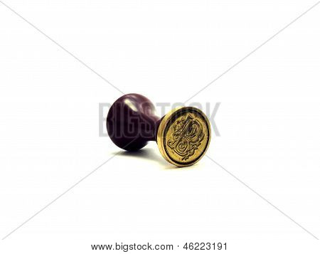 B Letter Wax Seal Stamper, isolated