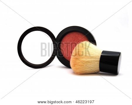 Blush Brush and Blush On