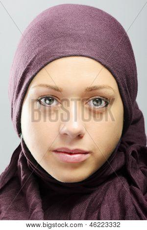 Young Arabic beautiful woman portrait