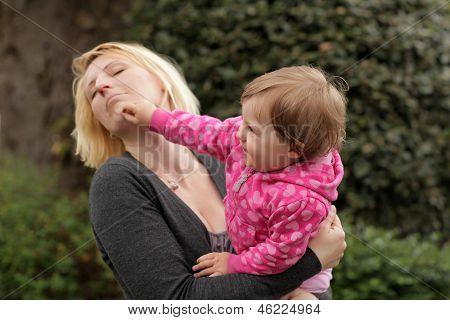 Punching mum