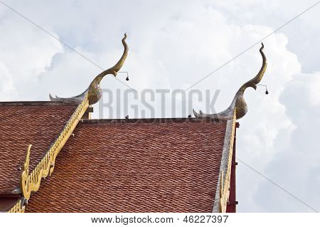 Gable Apex On The Roof Of Royal Temple