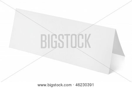 Blank Paper Template Isolated On White