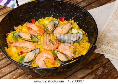 Paella -traditional spanish dish