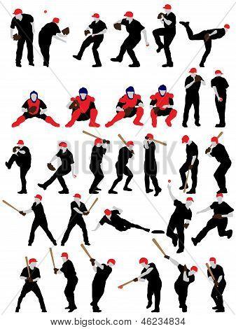 Baseball Silhouette Set