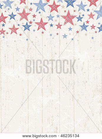 Grunge Usa Background, Vector