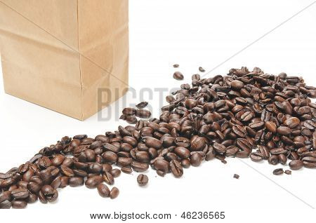 Bag Of Fresh Coffee Beans