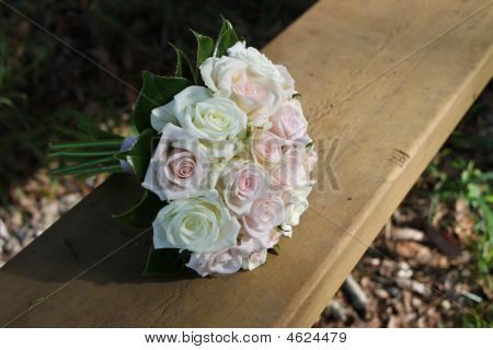 Bouquet On Wood