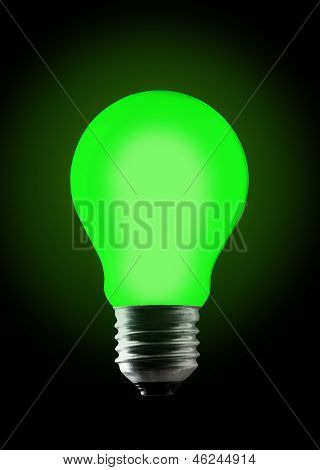Green Light Bulb.