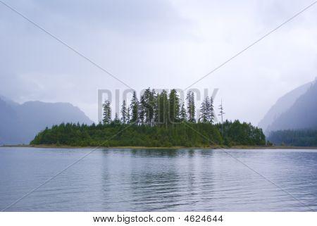 Strathcona Provincial Park Lake Island British Columbia