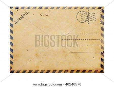 Old Blank  Post Card White Background