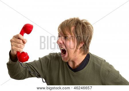 Yelling in the telephone cal