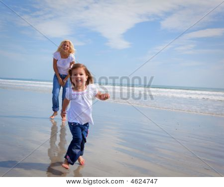 Running On A Beach