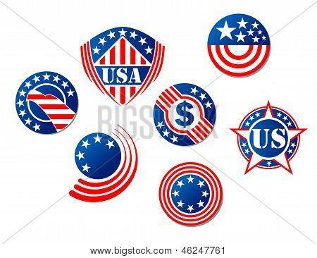 USA and american symbols