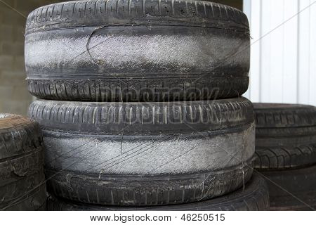 Worn Tires For Competition