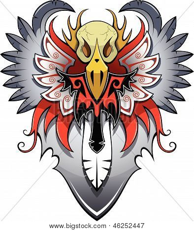 Heraldic bird
