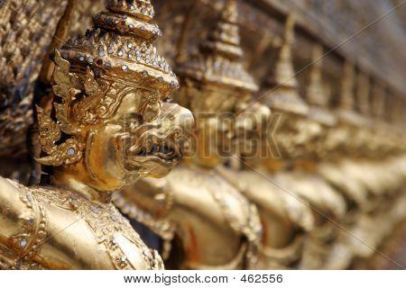 Dämon Gargoyles am Schrein des Smaragd-Buddha, Bangkok
