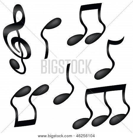 Wavy Musical Notes