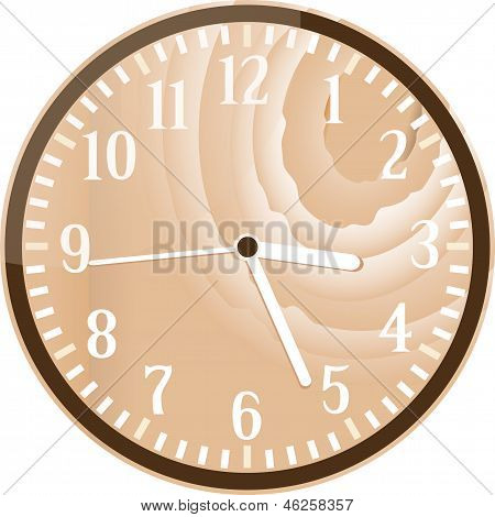Wall Retro Wood Clock
