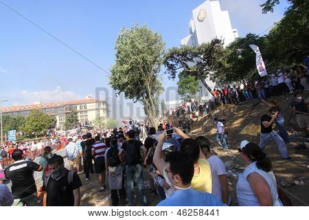 Istanbul - June 1: Gezi Park Public Protest Against The Government Which Started To Save A Park Turn