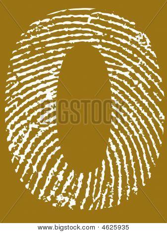 Fingerprint Alphabet No 0