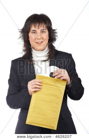 Put Dvd Disc On The Envelope