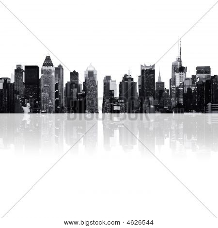 Cityscape - Silhouettes Of Skyscrapers