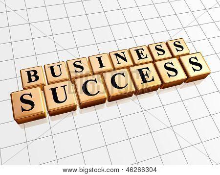 Business Success In Golden Cubes