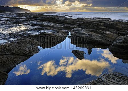 Rocky Coastline Reflections
