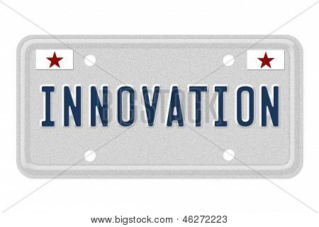 Innovation Car  License Plate