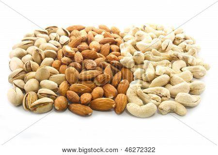 Almonds, Cashews And Pistachios