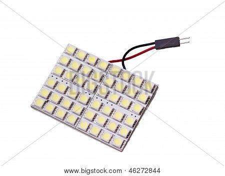 Led Panel Lighting To Replace The Bulb In Car Salon With 48 Leds