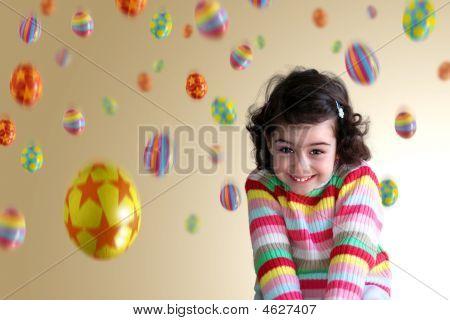 Girl Under Eggs