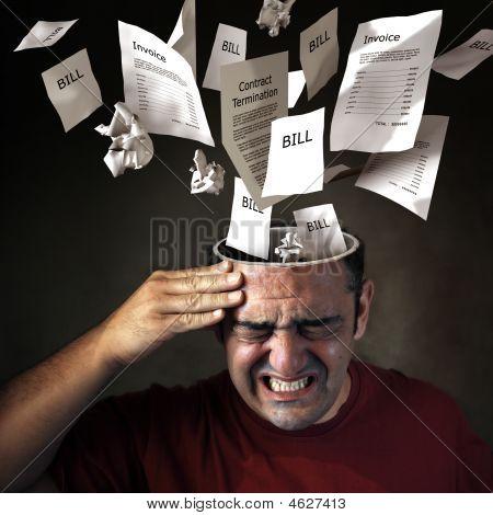 finanzielle Kopfschmerz