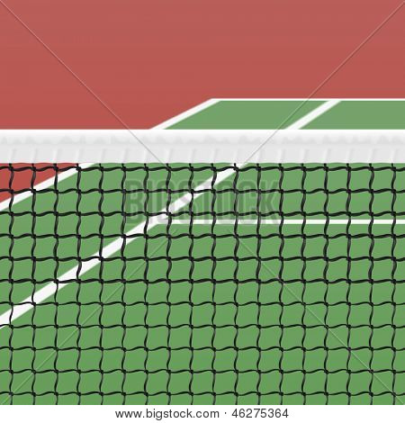 Tennis court. Vector.