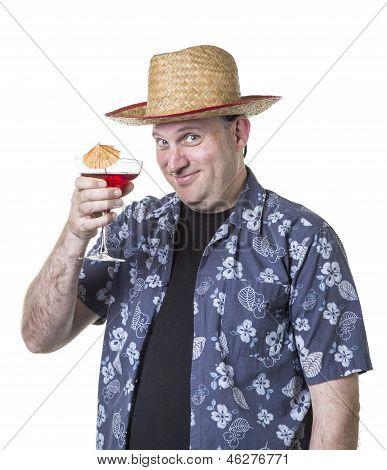 Happy man on vacation