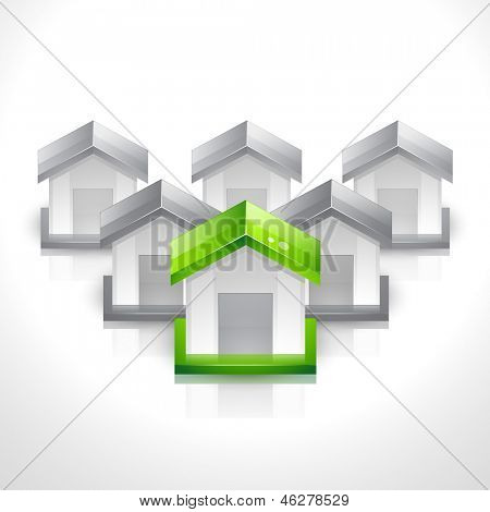 vector set of house icons