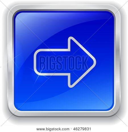 Arrow Icon On Blue Button