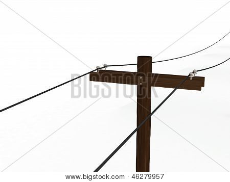 3D Rendered Power Pole