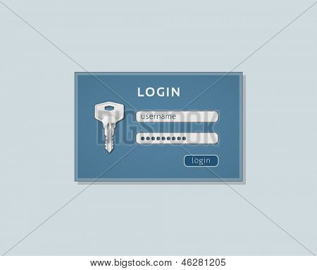 Log-in page. Log in form for website. Vector
