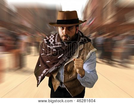 Gunman Runs In The Far West