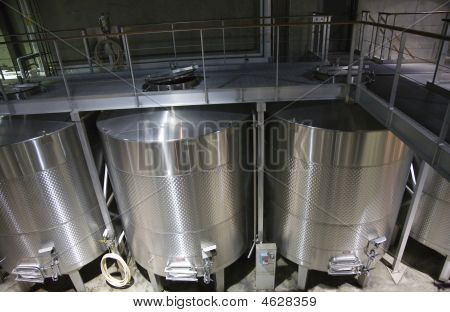 White Wine Stainless Steel Tanks Napa California