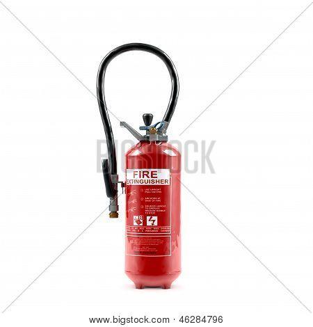 Extinguisher on white